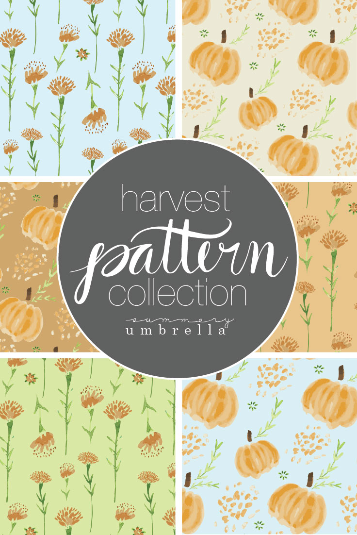 Celebrate with nature this season with my new Harvest Pattern Collection that is perfect for all of your DIY projects! These patterns will look absolutely stunning on invitations or even wrapping paper. Check it out today!