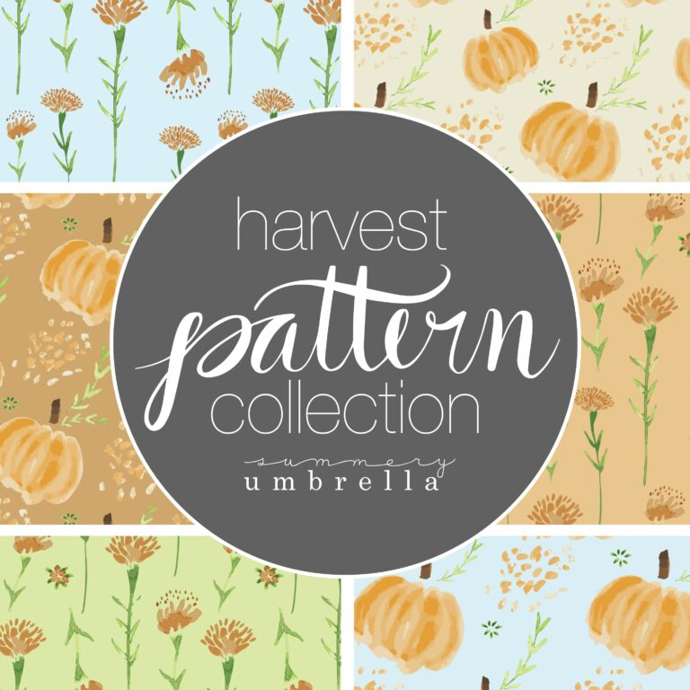 November Harvest Pattern Collection for DIY Projects and More!