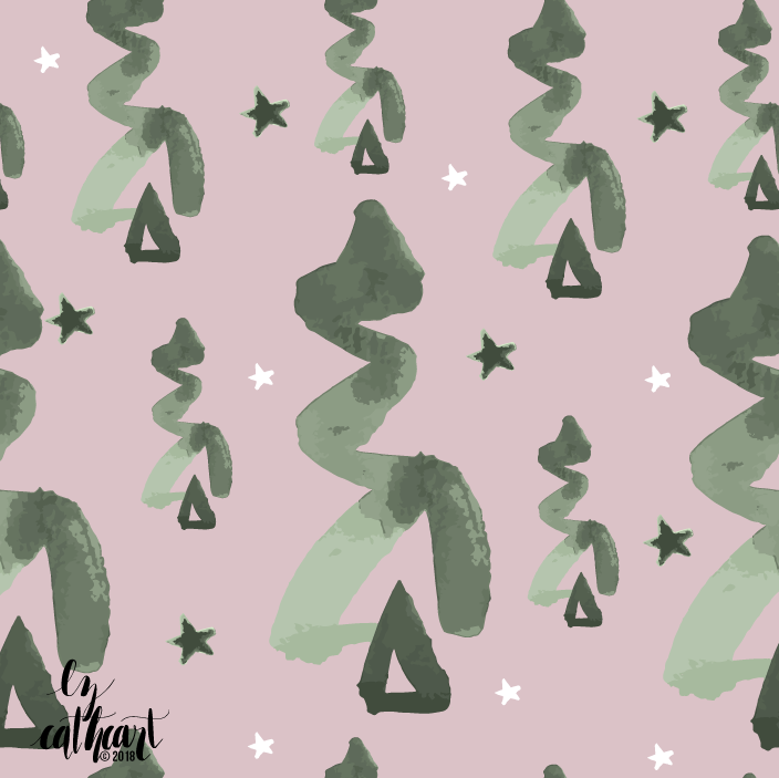 christmas tree repeating pattern