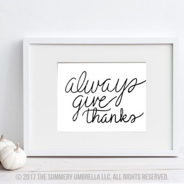 give thanks quote