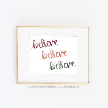 believe printable