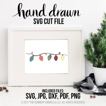 Christmas Lights Watercolor clipart