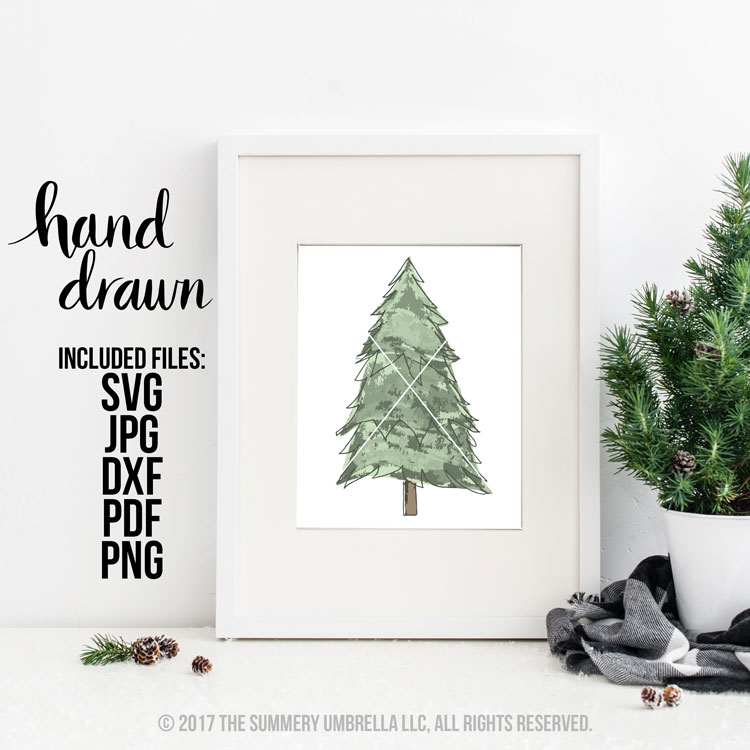 Christmas Tree Watercolor clipart