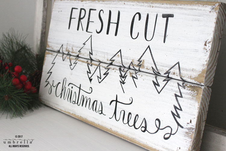 Fresh Cut Christmas Trees Sign.How To Make A Diy Reclaimed Wood Fresh Cut Christmas Trees Sign