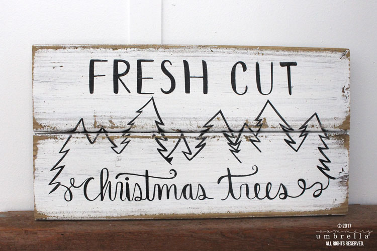 How To Make A Diy Reclaimed Wood Fresh Cut Christmas Trees