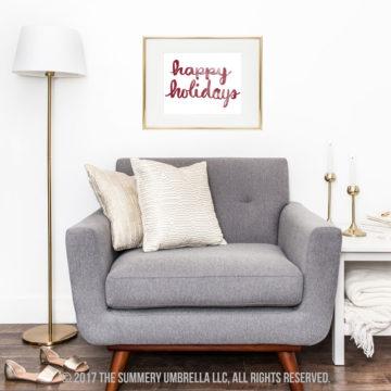 happy holidays clipart