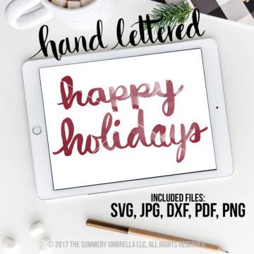 happy holidays svg