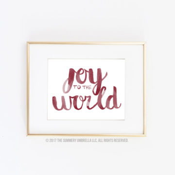 joy christmas quote