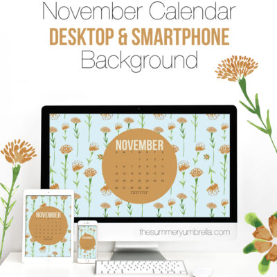 November Calendar: Desktop and Smartphone Backgrounds