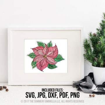 Poinsettia printable