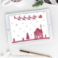 Santa Reindeer clipart
