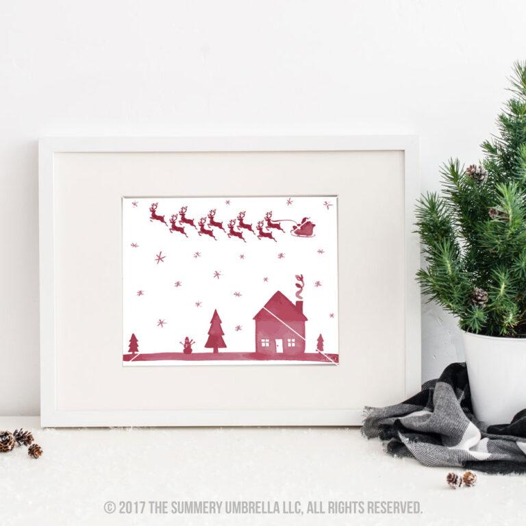 Santa Reindeer Printable