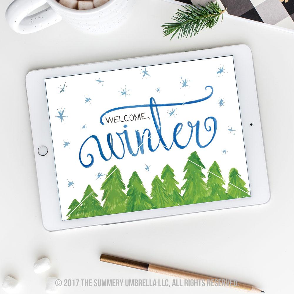 diy winter printable