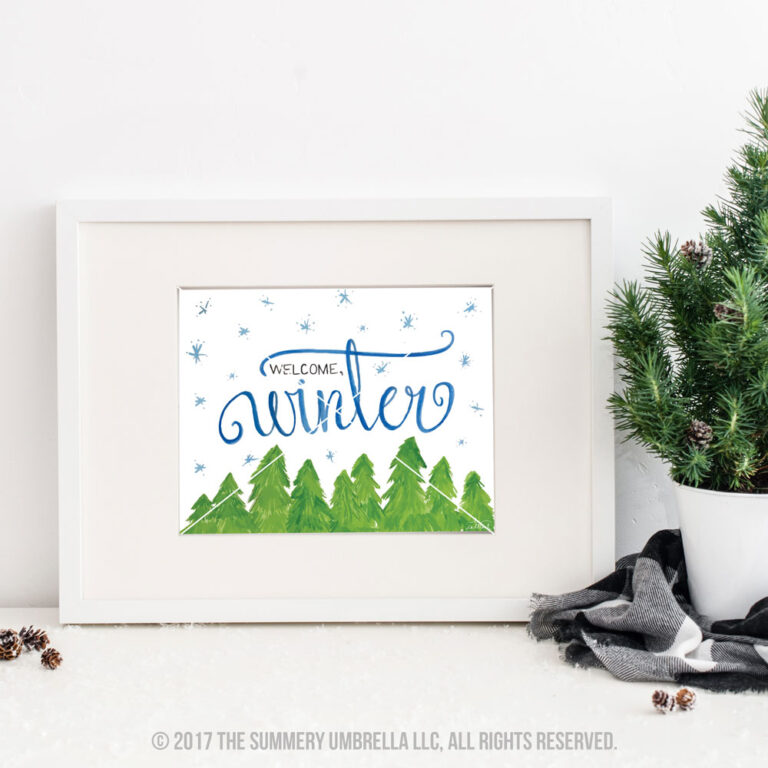 welcome winter Printable
