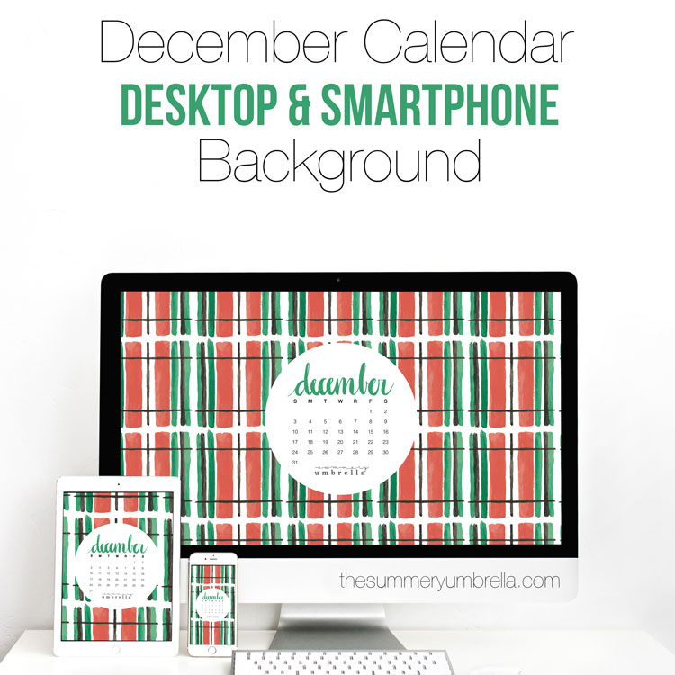 December Calendar: Desktop and Smartphone Backgrounds