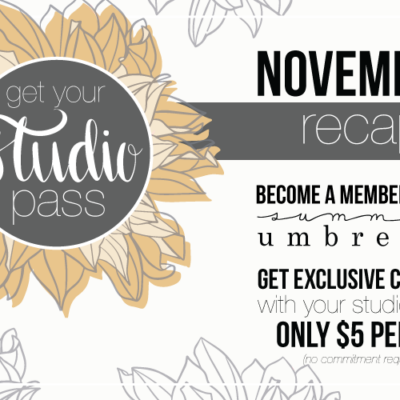 The Studio Membership: November Recap
