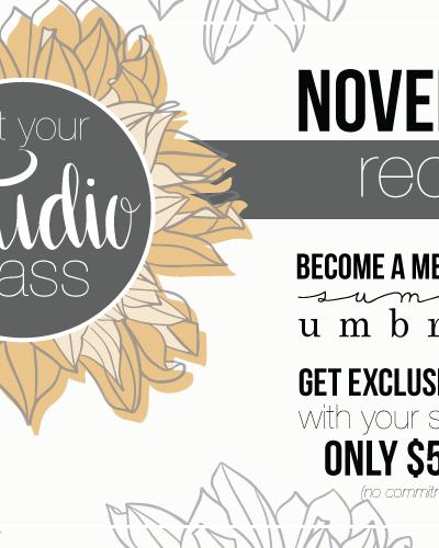 The Studio Membership: November Recap