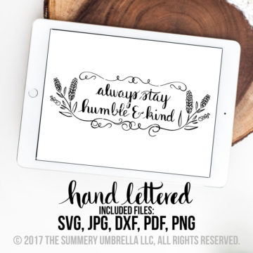humble and kind svg