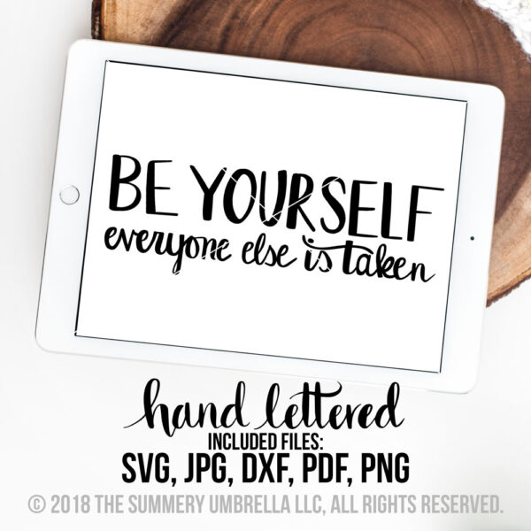 be yourself svg