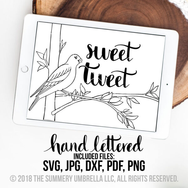 sweet tweet bird svg