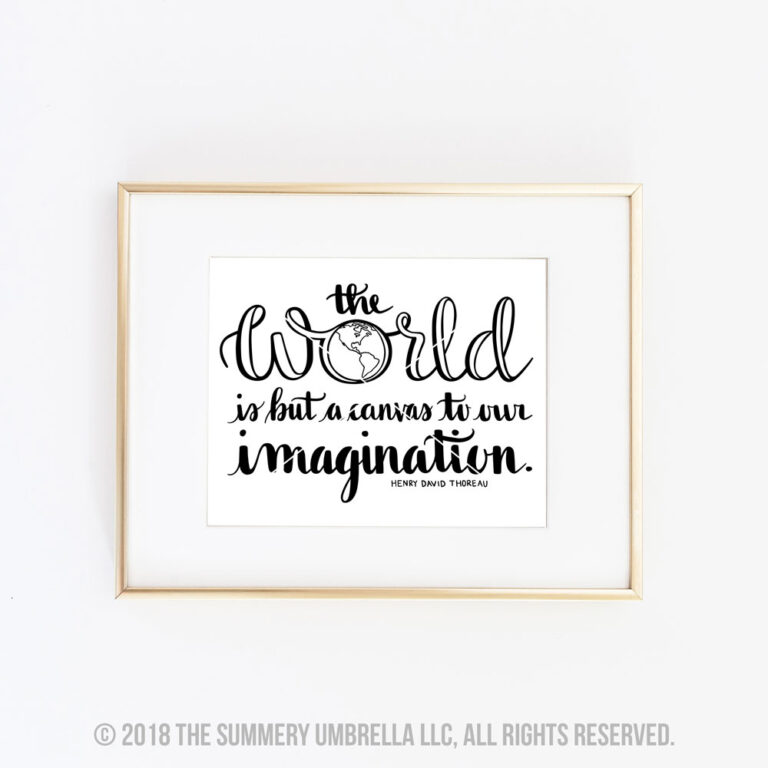 The World is But a Canvas printable