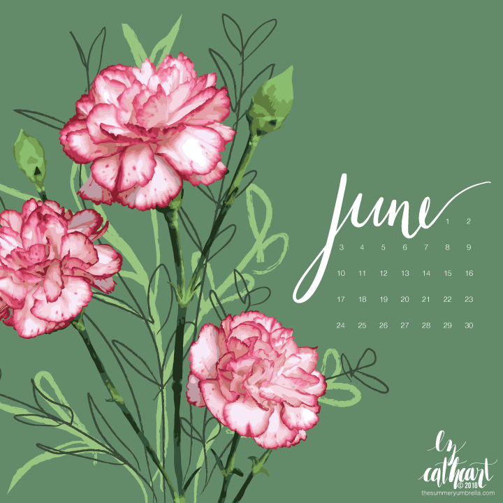 FREE June Calendar Download: Desktop and Smartphone Backgrounds