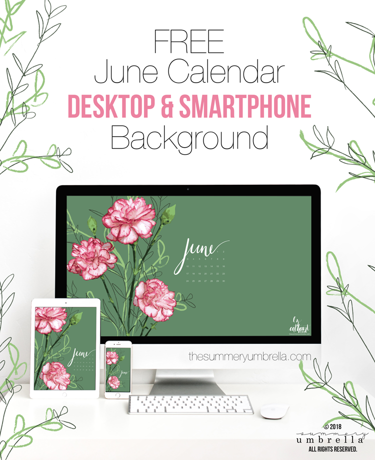 Well, hellooooo June! You have definitely been missed! Looking for a new (and FREE) June Calendar download? Then this post is for you. Stop on by to get this beauty today for both your desktop and smartphone. #freedownload #junecalendar #calendardownload