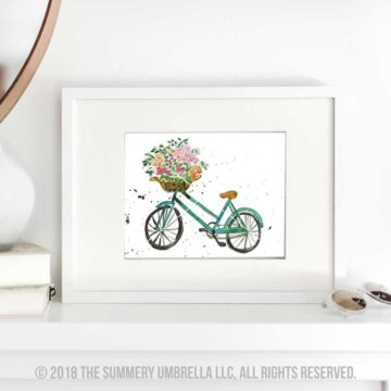printable picture of a bicycle