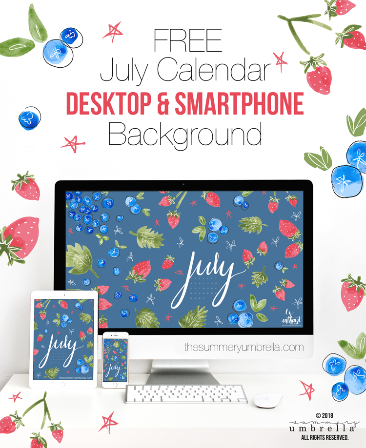 Is July really just around the corner?! It came way too fast, but bring on the pool parties and barbecues! Looking for a new (and FREE) July Calendar download? Stop on by to get this beauty today for both your desktop and smartphone.