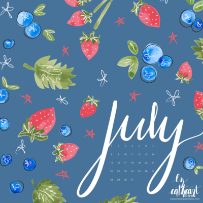 FREE July Calendar Download: Desktop and Smartphone Backgrounds