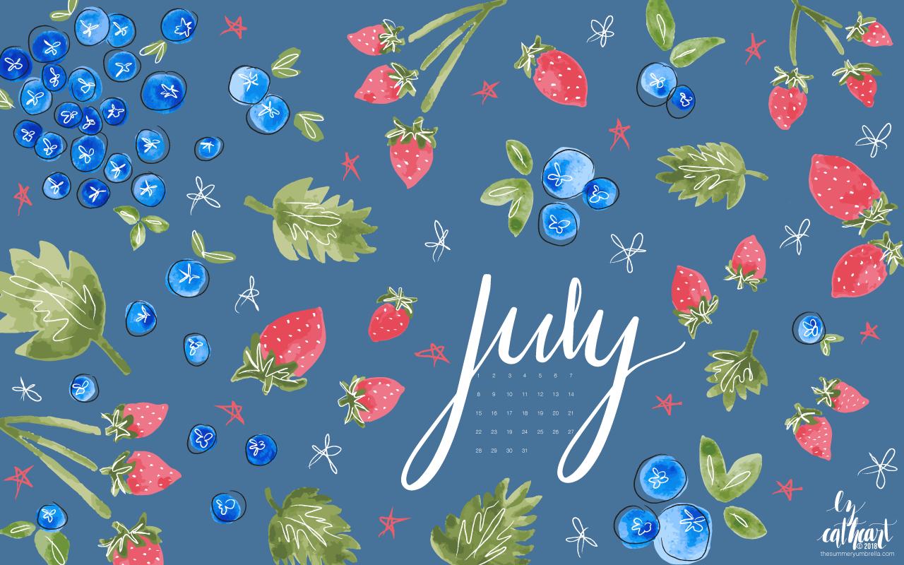 FREE July Calendar Download: Desktop and Smartphone ...