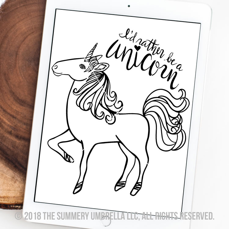 rather be a unicorn svg