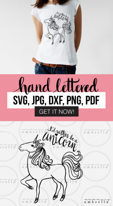 Why yes, I'd definitely rather be a unicorn! Enjoy this free download (for a limited time) that includes: SVG, JPG, PNG, DXF, and PDF files. Grab it now before it's too late!
