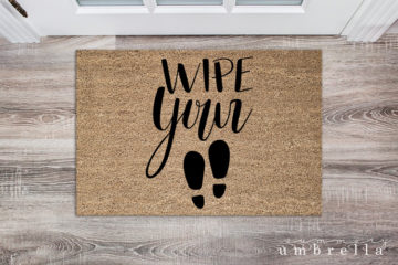 wipe your feet silhouette