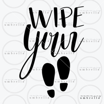 wipe your feet clipart