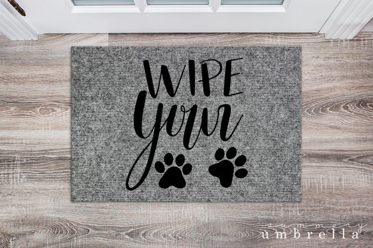 wipe your paws svg cut file