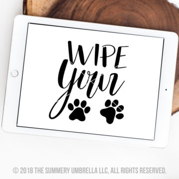 wipe your paws svg silhouette