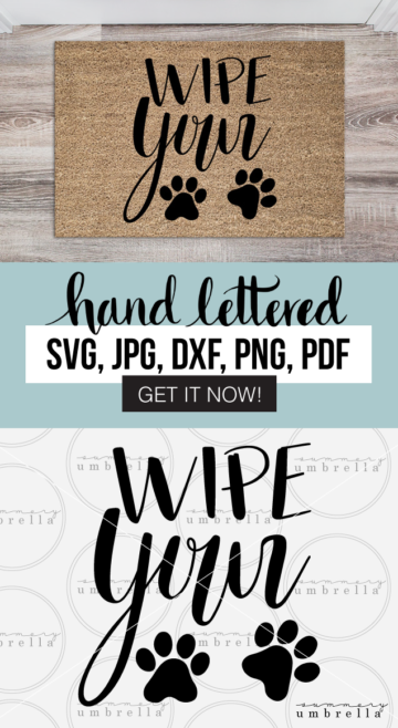 NEW hand lettered Wipe Your Paws design now available in the shop!