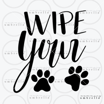 wipe your paws clipart