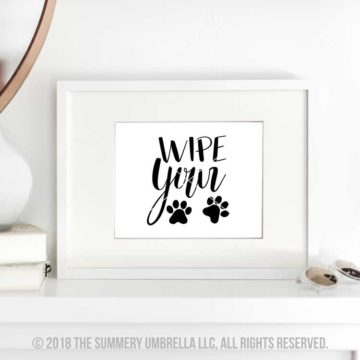 wipe your paws printables