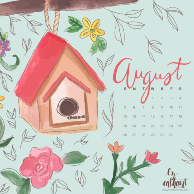 FREE August Calendar Download: Desktop and Smartphone Backgrounds