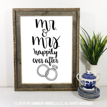 Mr and Mrs Happily Ever After SVG