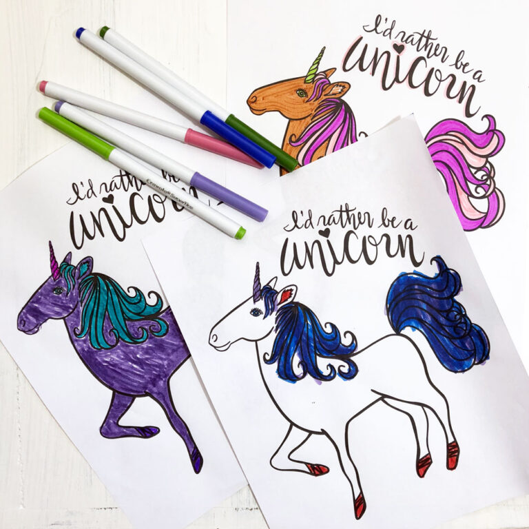 FREE DOWNLOAD: I'd Rather Be a Unicorn Printable and SVG