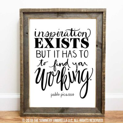 FREE DOWNLOAD: Inspiration Exists Printable and SVG