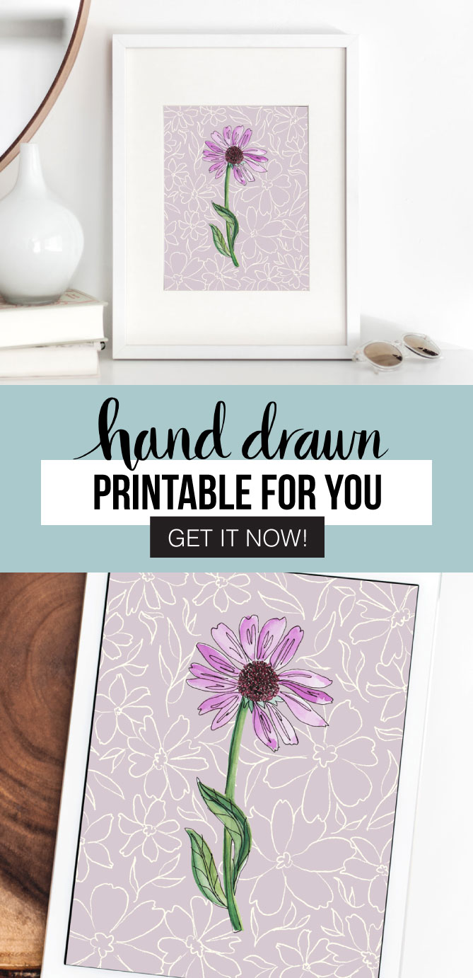 Pretty your space up with this gorgeous Purple Flower Printable! Enjoy this free printable download (for a limited time). Grab it now!