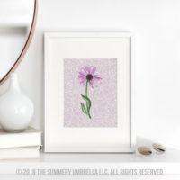 purple flower printable