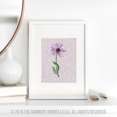 NEW DOWNLOAD: Pretty and Purple Flower Printable