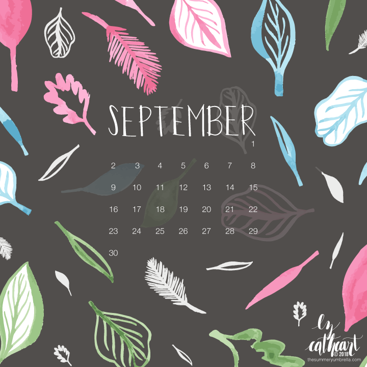 FREE September Calendar Download: Desktop and Smartphone Backgrounds