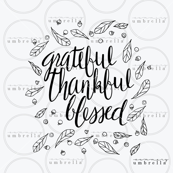 grateful thankful blessed clipart