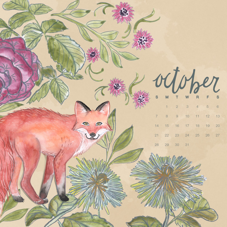 FREE October Calendar Download: Desktop and Smartphone Backgrounds